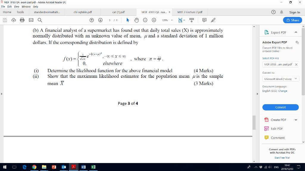 Solved: 0 MDF B103 OA Exam Pastpdt-Adobe Acrobat Header LX