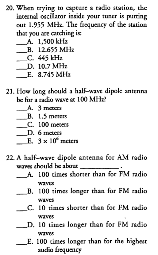 Solved: 20  When Trying To Capture A Radio Station, The In