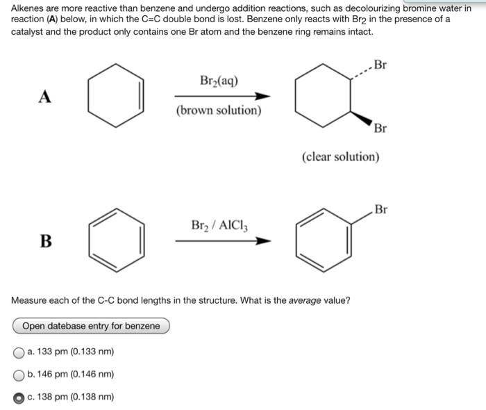 solved  alkenes are more reactive than benzene and undergo