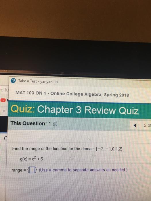 Algebra Archive | February 10, 2018 | Chegg.com