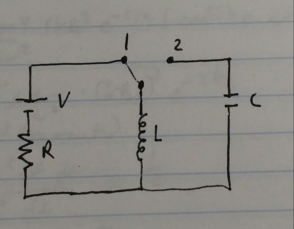 Solved: The Switch In The Circuit Has Been In Position 1 F ...