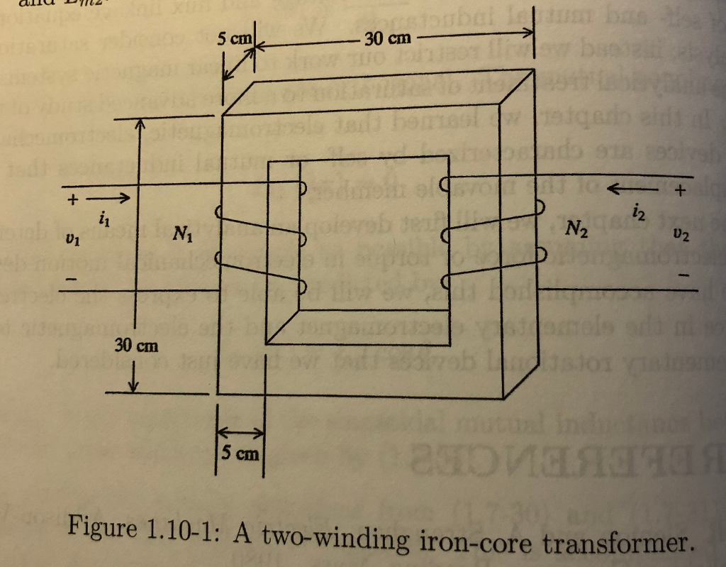 Solved 2 10 An Iron Core Transformer That Has Two Wind Figure Schematic Diagram Of A See More Show Transcribed Image Text Windings Is Shown In Fig 110 1 On Page 46 Ni 50 Turns M2 125