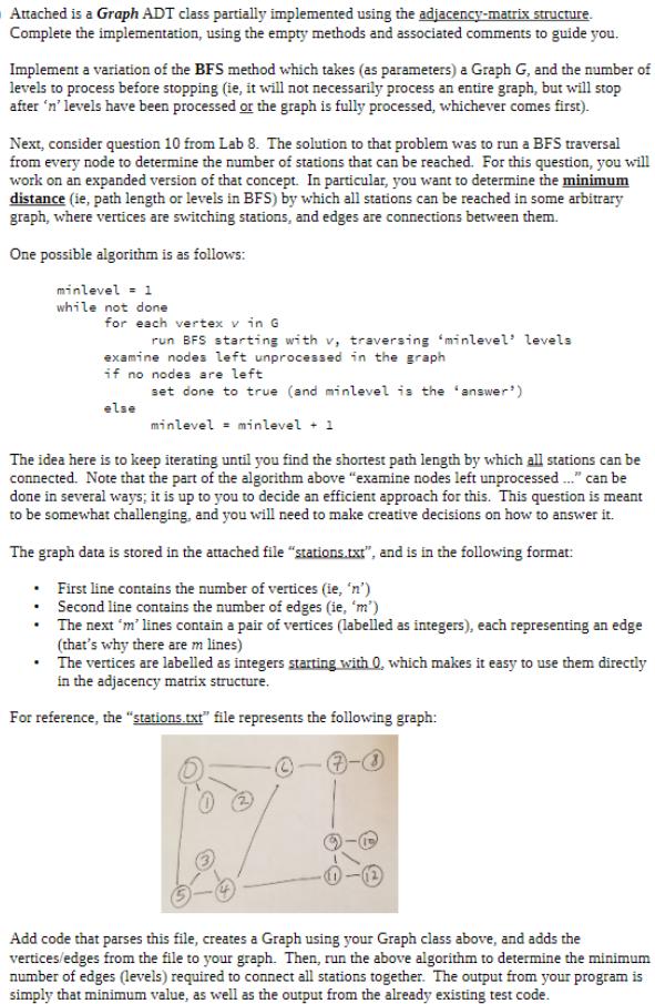 Code: #!/usr/bin/python3 Class AMGraph: