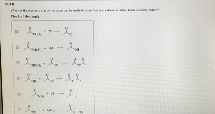 Solved: Which Of The Reactions That Do Not Occur Can Be Ma