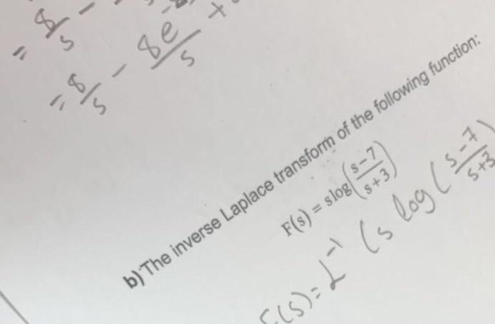 function: of the fol e following sform o e inverse rse Laplace b) Th 丨ㄣ CCS): s s tr sk