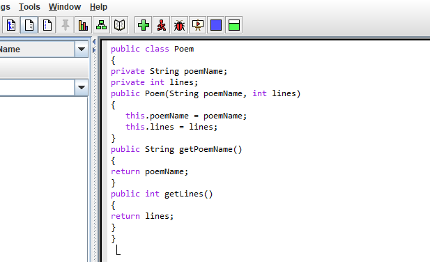 Solved Help I Need To Create A Class Named Poem That Cont