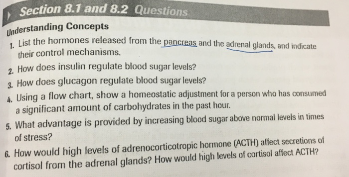 Biology archive february 28 2017 chegg section 81 and 82 questions understanding concepts list the hormones released from the pancreas and the fandeluxe Image collections