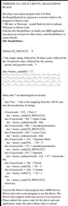 Solved: EMBEDDE OS, LINUX UBUNTU, BEAGLEBONE BLACK Develop