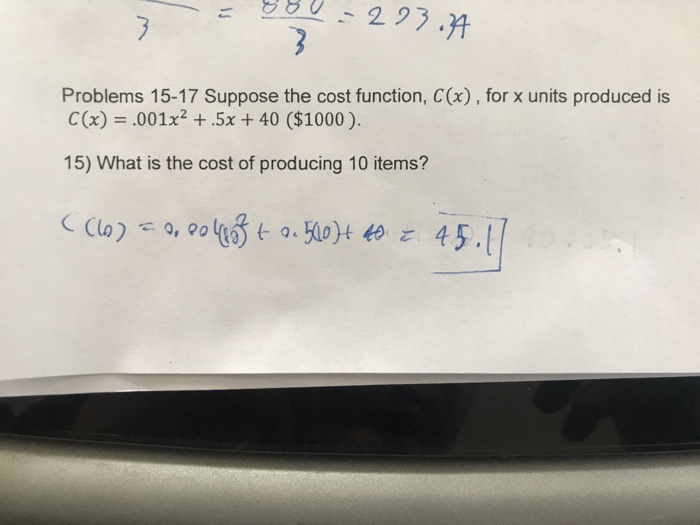 Problems 15 17 Suppose The Cost Function C X For