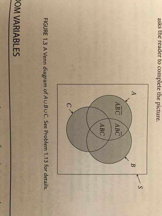 Solved 113 Figure 13 Shows A Venn Diagram Of Aubuc Fil