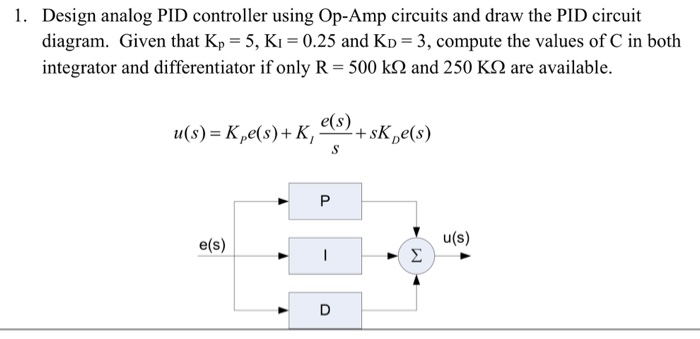 Amazing Solved 1 Design Analog Pid Controller Using Op Amp Circu Wiring Cloud Pimpapsuggs Outletorg
