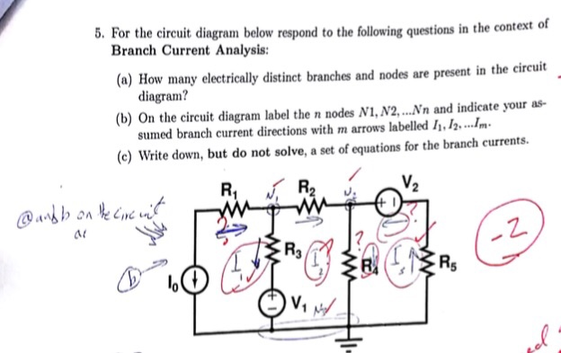 Solved    For The Circuit Diagram Below Respond To The Fol