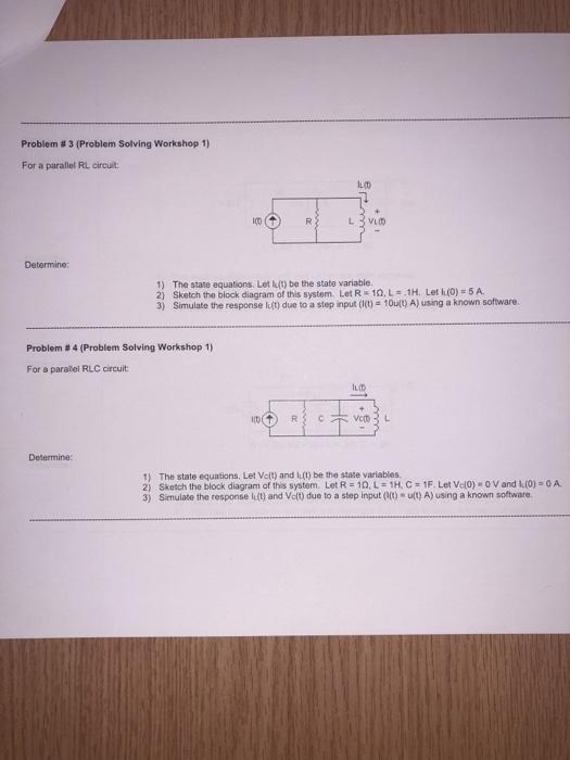 solved problem 3 problem solving workshop 1 for a par rh chegg com