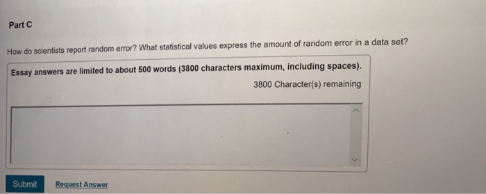 part c how do scientists report random error essa com part c how do scientists report random error essay answers are limited to about 500