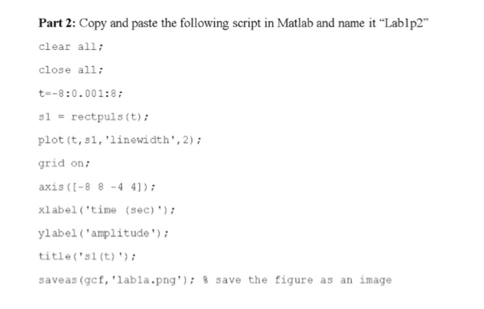 Solved: Part 2: Copy And Paste The Following Script In Mat