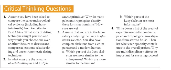 Solved: Critical Thinking Questions B. Which Parts Of The ...
