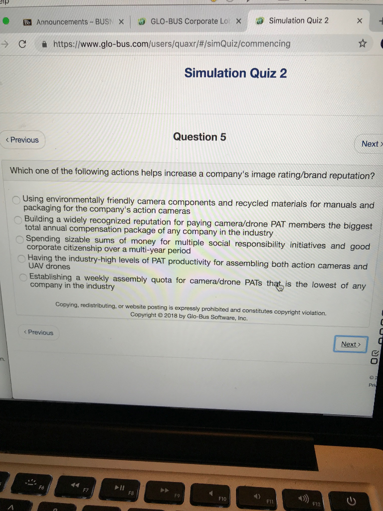 X Simulation Quiz 2 Glo Bus Corporate Lo Be Chegg Com