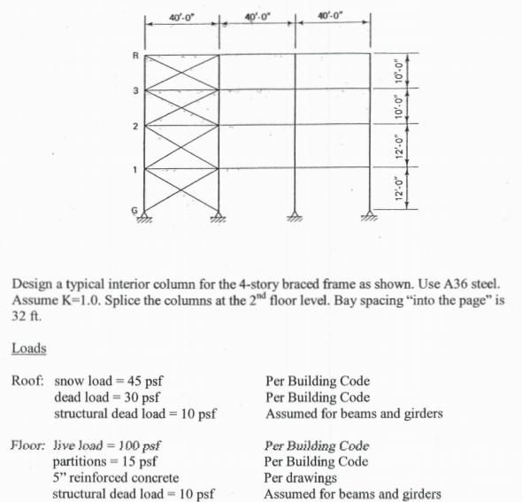 40-0 2 Design A Typical Interior Column For The 4-... | Chegg.com