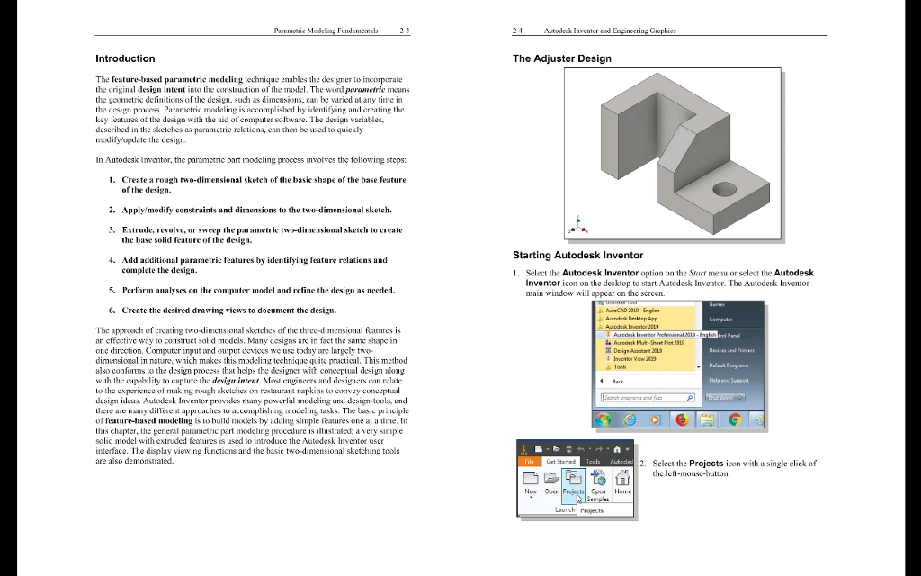 Using Autodesk Inventor, Create The