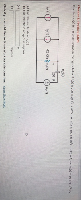 Electrical engineering archive march 06 2018 chegg chapter 8 problem 8025 calculate vofo in the circuit shown in the figure below fandeluxe Image collections