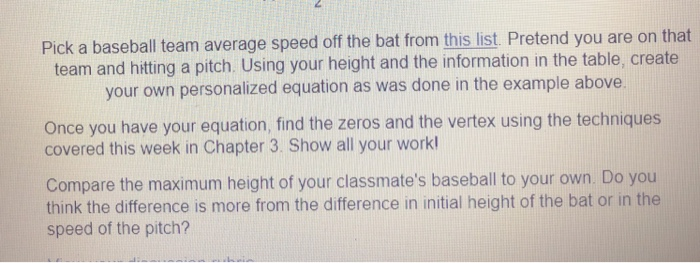 Pick A Baseball Team Average Speed Off The Bat Fro