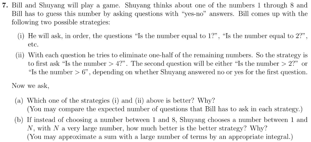 Questions to ask when playing the question game