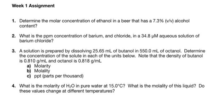 density of ethanol at various temperatures