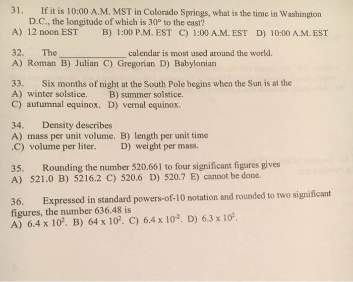 If It Is 1000 A M Mst In Colorado Springs What Is