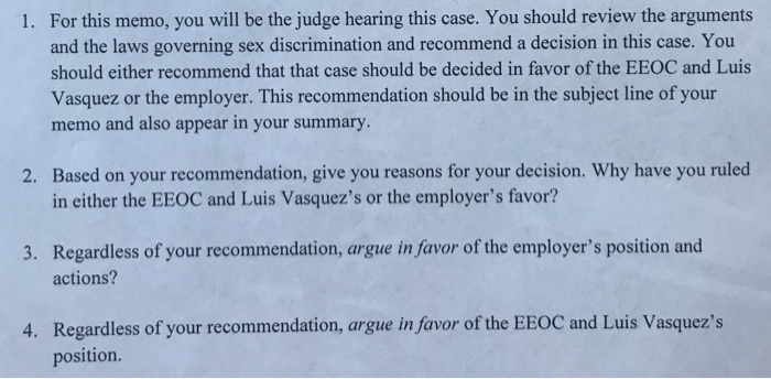 Solved: U S  Equal Employment Opportunity Commission (EEOC