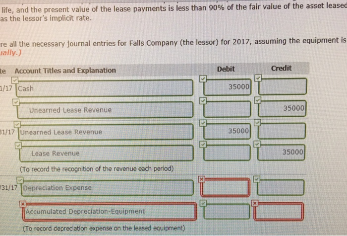 Solved Kingston Corporation Leases Equipment From Falls C