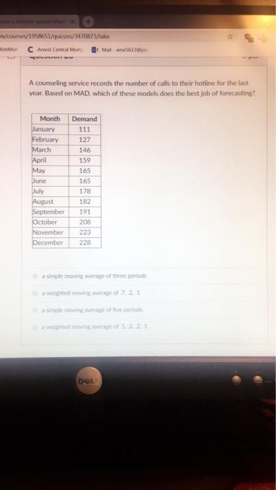 Solved: /quizzes/3470873/take EbMal C Arvest Central Mort