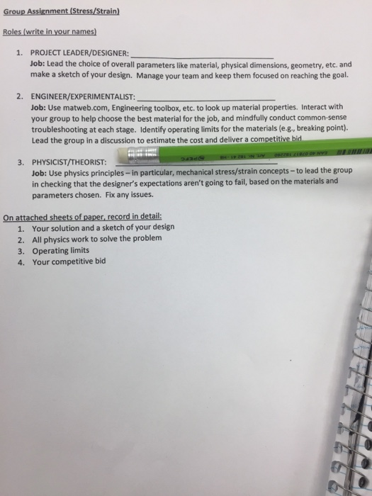 Group Assignment Tress Write In Ur Names 1  PROJEC    | Chegg com