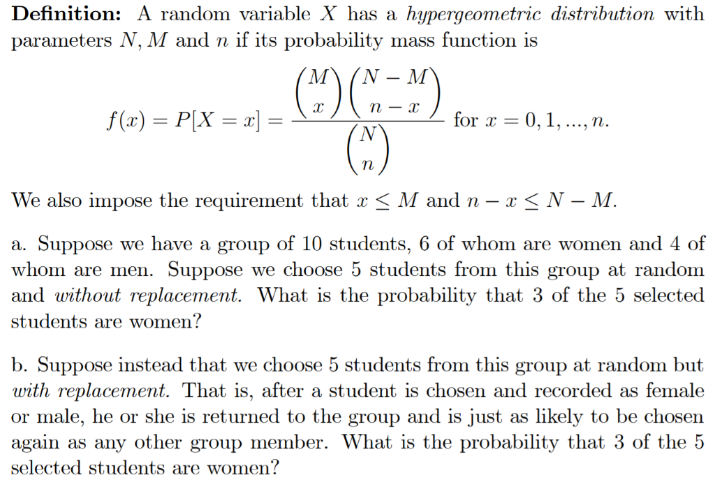 Solved: 2  There Is One Important Probability Mass Functio