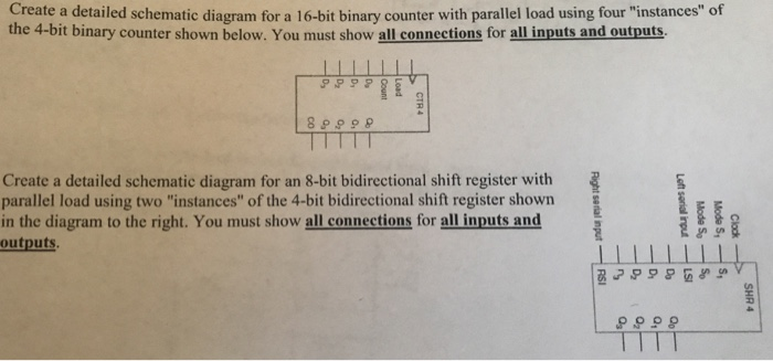 Solved: Create A Detailed Schematic Diagram For A 16-bit B ...
