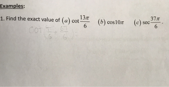 Precalculus archive march 12 2018 chegg examples 13 3 7 1 find the exact value of a cot thecheapjerseys Choice Image