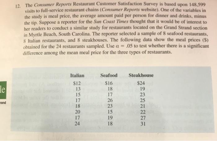 restaurant customer satisfaction survey questions
