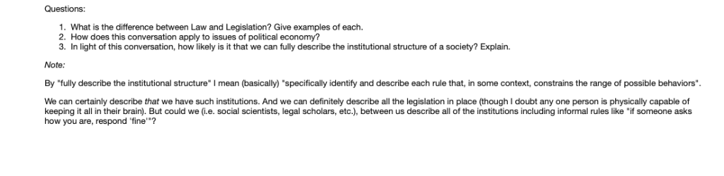 Questions: 1  What Is The Difference Between Law A