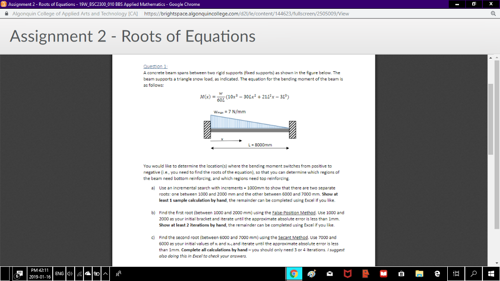 Solved: Assignment 2-Roots Of Equations-IgWBSC2300 010 BBS