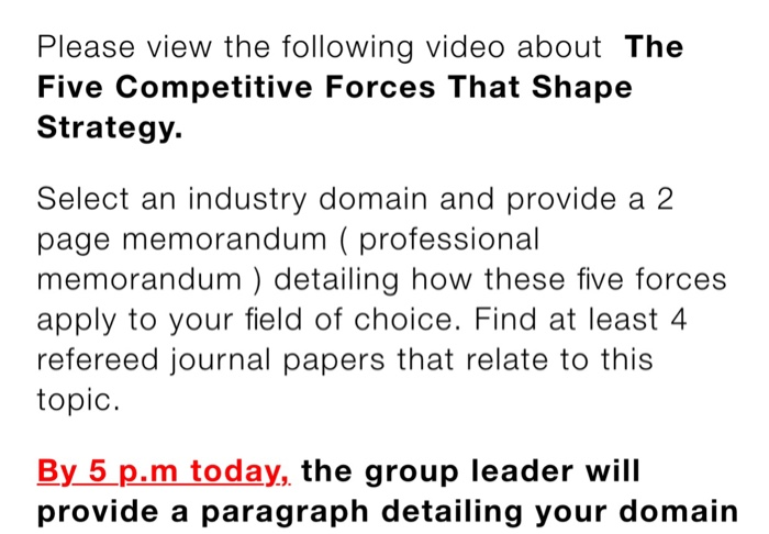 Operations management archive january 22 2018 chegg please view the following video about the five competitive forces that shape strategy select an fandeluxe Image collections
