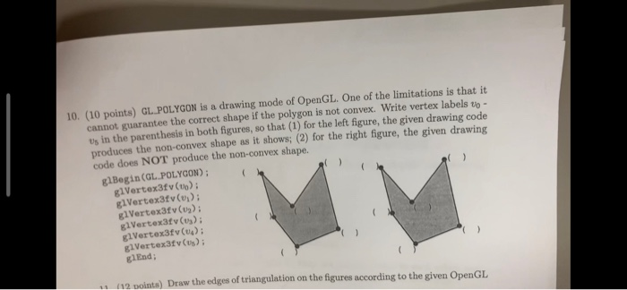 Solved: 10  (10 Points) GL POLYGON Is A Drawing Mode Of Op