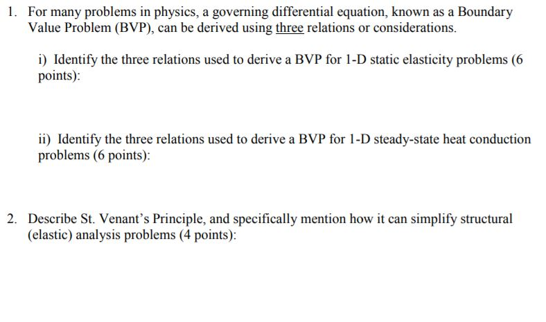 Solved For Many Problems In Physics A Governing Differen