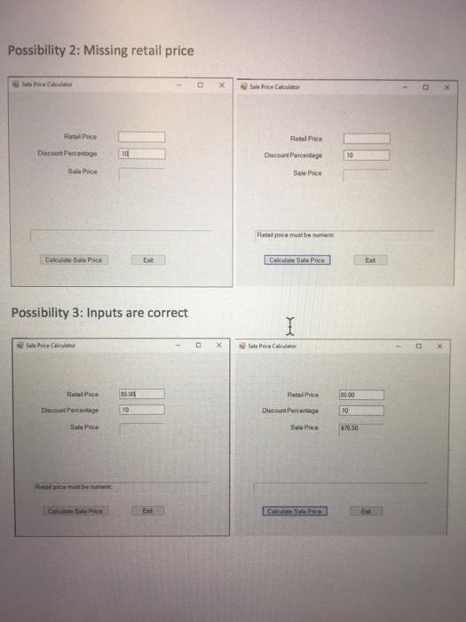 solved visual basic programming sale price calculator 3