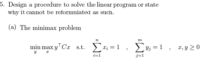 Solved: 5  Design A Procedure To Solve The Linear Program