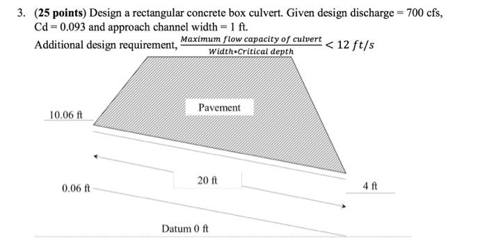Solved: 3  (25 Points) Design A Rectangular Concrete Box C