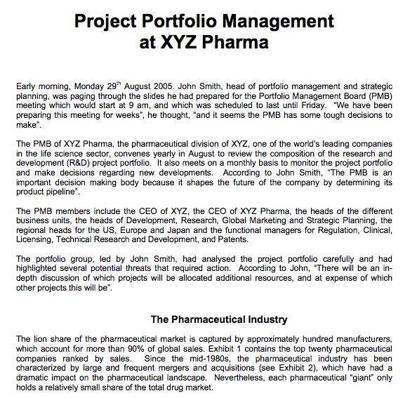 Portfolio management assignment