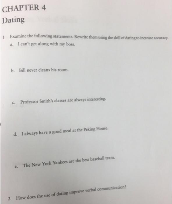 Skill dating