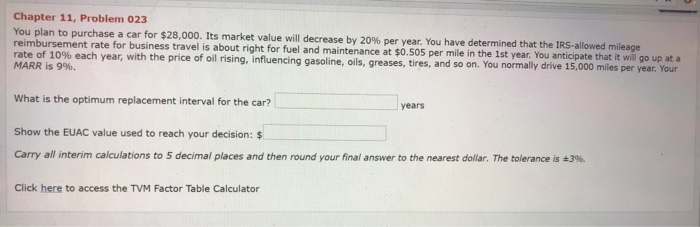 Solved: Chapter 11, Problem 023 You Plan To Purchase A Car