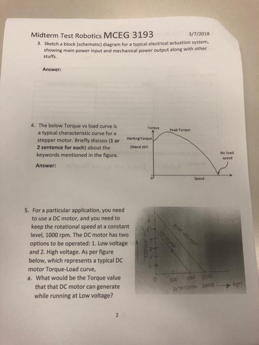 Solved Midterm Test Robotics Mceg 3193 3 7 2018 3 Sketch