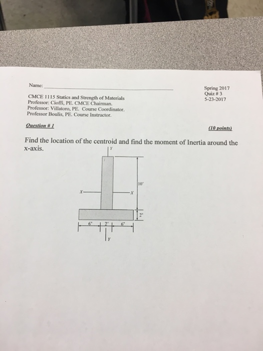 how to find footing so it matches centroid of forces