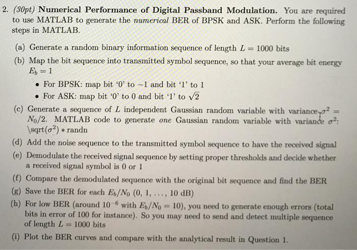 2  (30pt) Numerical Performance Of Digital Passban